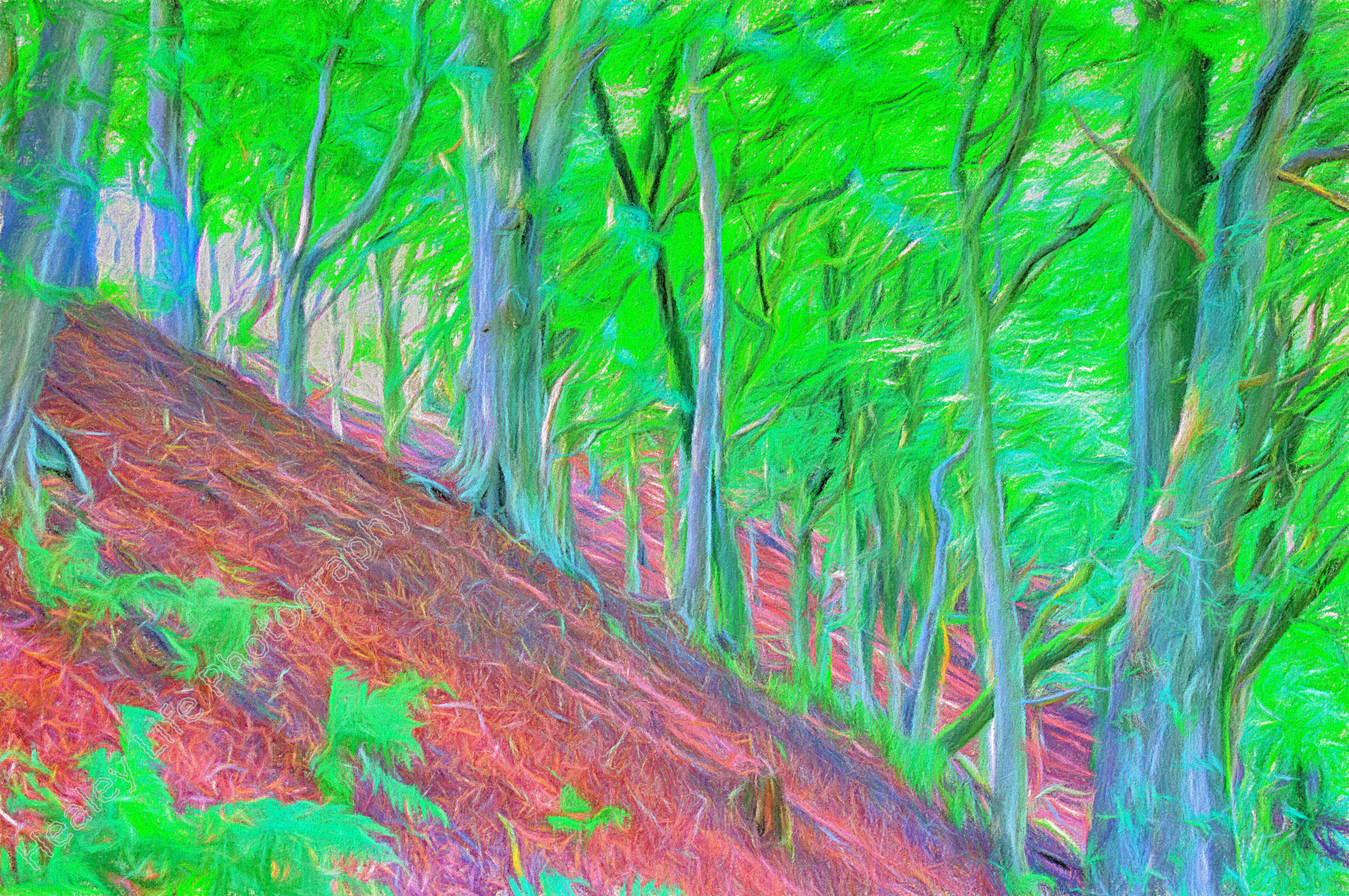 paint trees